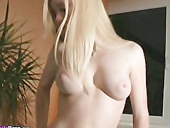 Cute Natural Blonde With Great Tits Gives Blowjob And Missionary Fucked