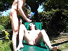 Anal fuck in the sun