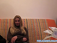 PublicAgent HD Cute long haired blonde fucking on her sofa