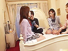 Cock hungry asian sluts sucking, fucking part4