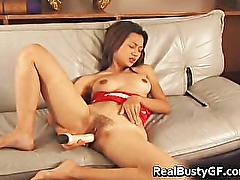 Beautiful busty asian dildoing part6