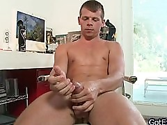 Dude sits in chair and masturbates part6