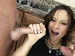 Anal virgin Amber was having a bad day, so she decided to relief some stress and satisfy herself by stuffing her sweet pussy with a beer bottle. Before she could get into it though, these two studs show up to teach her what real penetration is like, with