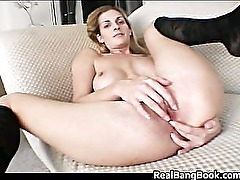 Busty blond and pierced slut doing part2