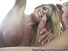 Busty amateur Tera sucking and fucking