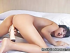 Irresistable busty asian cutie dildo part4
