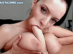 Superb Brunette Tits Fuck and Blowjob