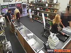 Blonde MILF pawnshop fuck 988