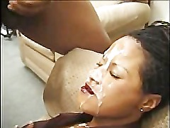 Amateur black whore bukkake 2