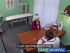 FakeHospital Spy on pretty teen slowly seduced and takes creampie from the doctor