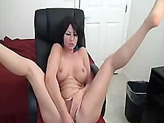 Sexy Brunette With Big Boobs Toying Pussy And Ass
