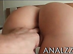 Superb blondie girl anal tryout and jizzed on ass