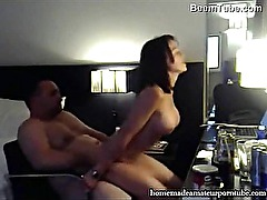 Busty fit amateur girl hard fucking by fat guy - Beemtube.com