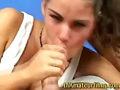 Amateur teen fucked in her mouth