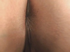 Black haired Amateur exposing pussy and ass