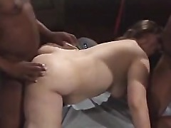 BBW gets many creampies in gangbang