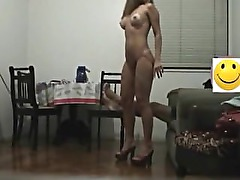 My hot girlfriend trying to be sexy n rides my cock