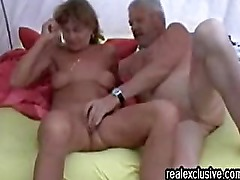 Sex in a tent Mature German Couple