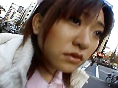 Naughty Asian girl is pissing in public part6