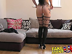 FakeAgentUK - fetish bound gagged and fucked