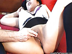 Screaming asian hands on orgasms
