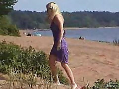 Young Amateur couple Outdoor beach reality Hidden camera real sex