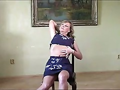 Sexy mother id like to fuck gives hot striptease on chair