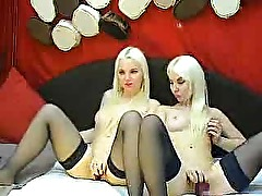 Hot Blondes Play On Cam