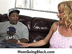 Amateur milf having interracial sex at home 1