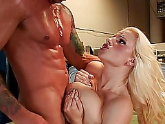 Amateur adorable blonde babe gets fucked in the trailers from car