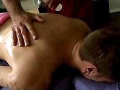 Straight amateur hunk gets rubbed down