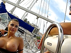 Arresting lady Aletta Ocean was invited by my for an excursion on my yacth! This babe looks so horny and slutty with her giant boobs and sexy look! Lets check her in da action.
