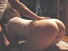 Girlfriend blowing and nailed from behind
