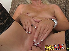 FakeAgentUK Mature MILF is hungry for pornstars cocks