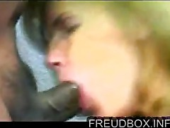 Interracial sex - white women sucks and fucks black man