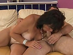 GILF amateur granny fucked in hairy pussy and mouth