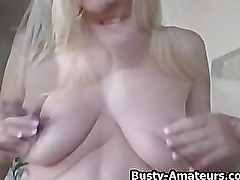 Busty chick Autumn on hot striptease showing her asset
