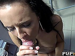 Store clerk babe fucks for cash 6