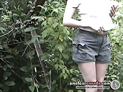 Buxom british amateur flashes huge boobs outdoors