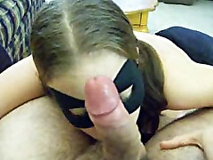 Bat girl sucks cock too
