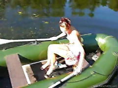 Amateur czechian Natasha in the boat
