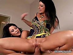 Hard Cock Between Smooth Latina Legs