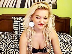 blonde chick plays on webcam www.SexAtCams.com