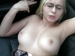 Blonde amateur gets fucked and jizzed