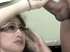 Mature amateur doctor cumshot lover wanks dude off