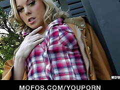 BUSTY BLONDE NAUGHTY COWGIRL FISTS & VIBRATOR TIGH