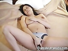 Very wet busty plumper asian fingering big labia pussy