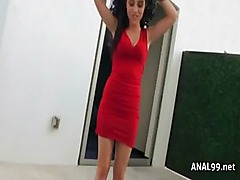 Brazillian ass gapping from anal sex