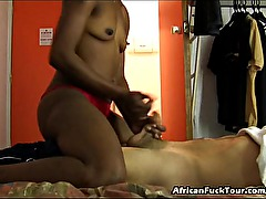 Slim Sexy African Girl Blowjob And Fucked