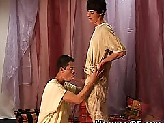 Twink gets his shaved stiff jizzster part4